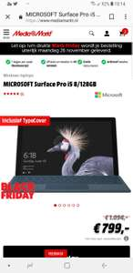 Microsoft surface pro I5 128gbssd inclusief typcover