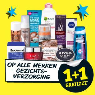 1+1 gratis op alle gezichtsverzorging (alleen vandaag) @ Kruidvat