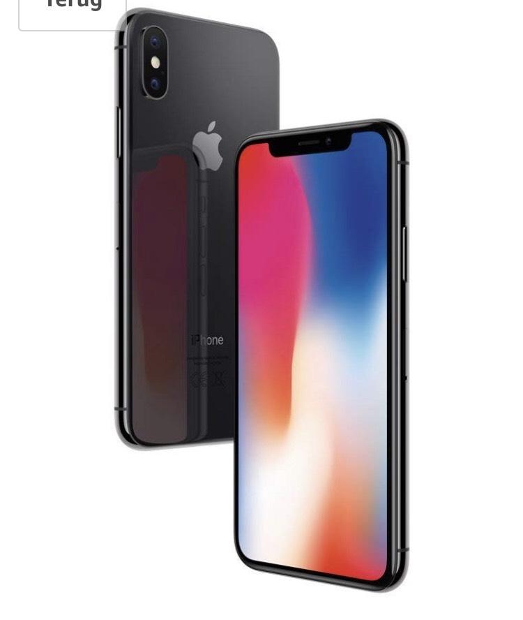 iPhone X 64 gb voor 819,- en 256 gb voor 969,- @amazon.de