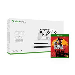 Xbox One S 1TB + 2x Controllers + 3 Maanden Gamepass + 14 dagen Live Gold + Red Dead Redemption 2 voor €209,04 @ Amazon.de