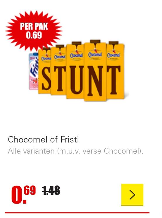 Chocomel €0,69 (Dirk)