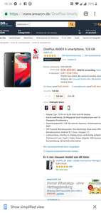 OnePlus 6 128GB 459 bij Amazon.de