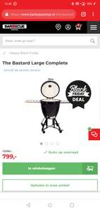 The black Basterd large Kamado bbq
