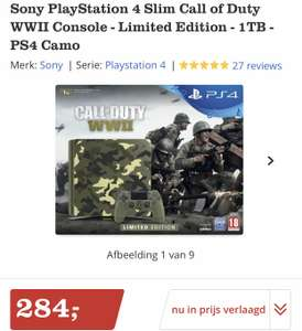 Sony PlayStation 4 Slim Call of Duty WWII Console - Limited Edition - 1TB - PS4 Camo