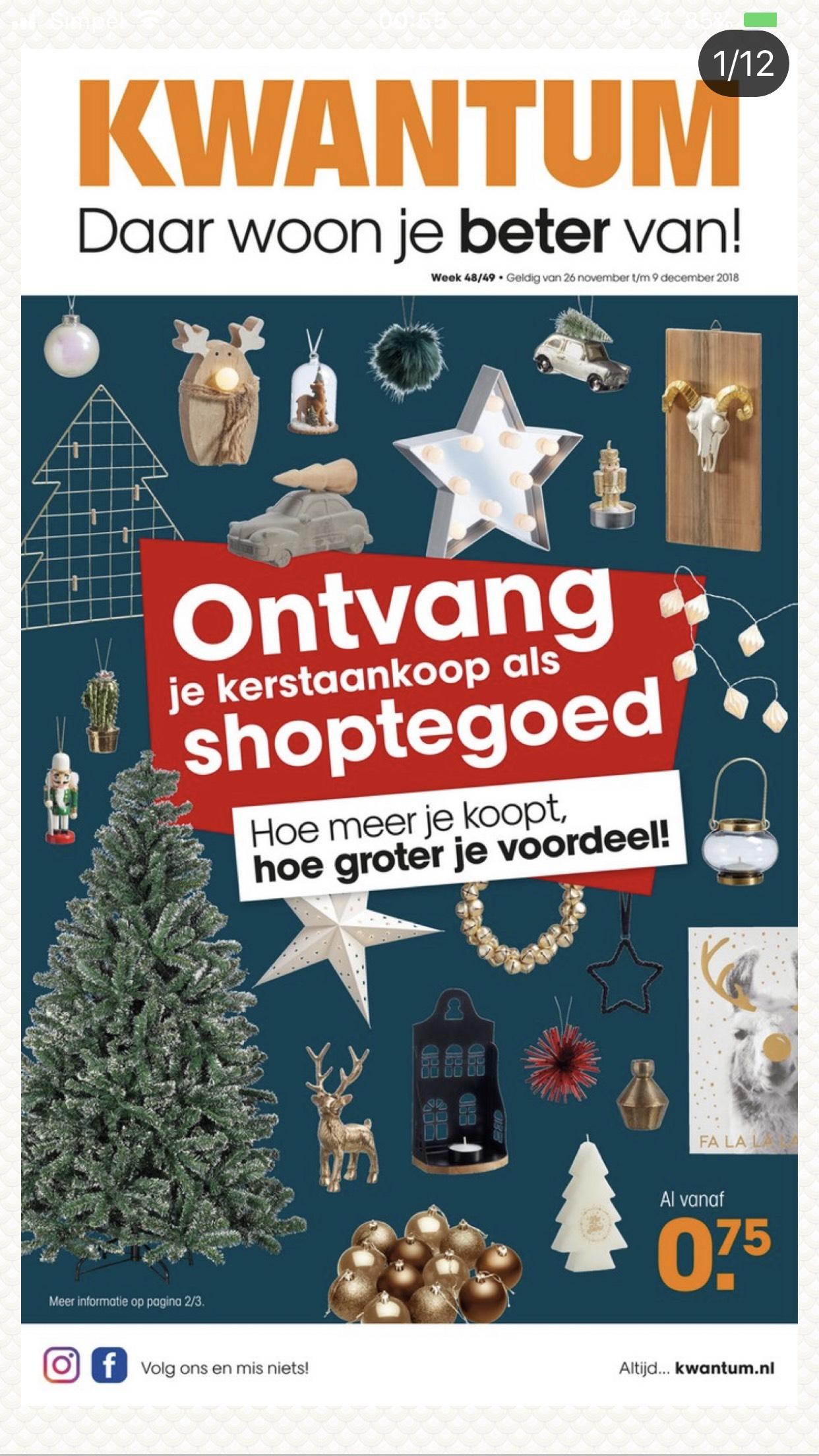 Shoptegoed bij aanschaf van kerstspullen @Kwantum