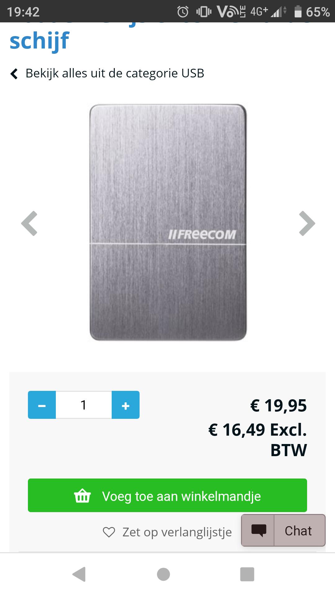Normaal prijs €70,00