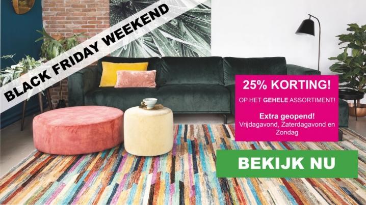 25% korting op alle vloerkleden van Vloerkledenwinkel.nl