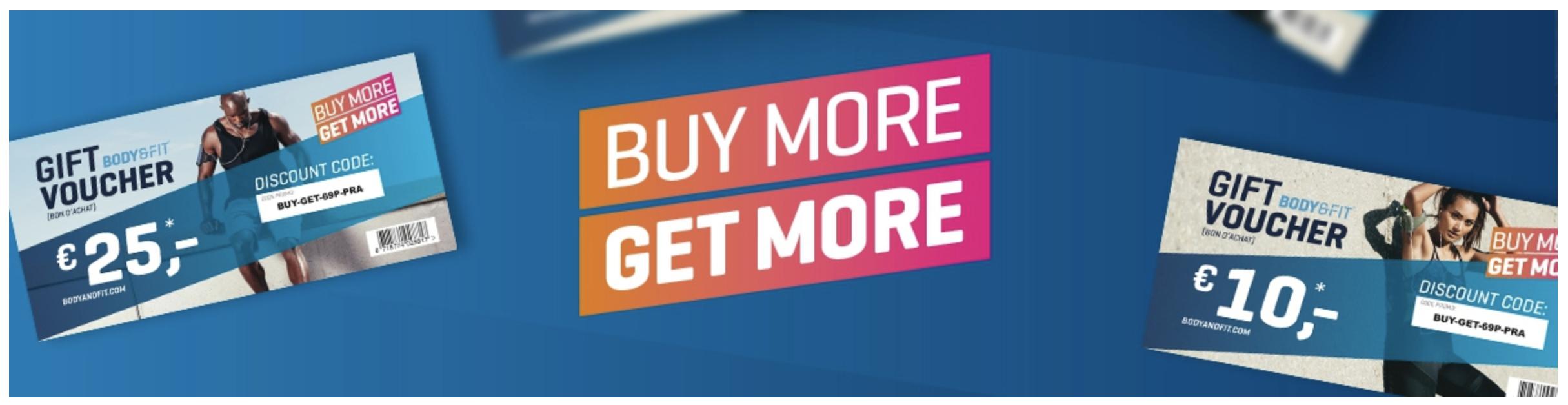 € 25,- korting op je volgende bestelling! @ Body & Fit Shop
