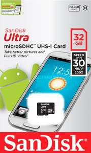 SanDisk 32GB Ultra Micro SD (SDHC) Class 10 UHS-1 voor €10,85 @ MyMemory