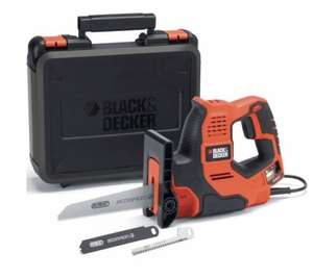 [prijsfout?] BLACK+DECKER - RS890K-QS - 500W Scorpion® 3-in-1 Elektrische zaag met Autoselect, koffer en 3 zaagbladen