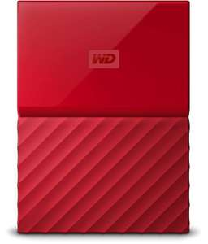 4 TB - WD My Passport 2,5'' harde schijf, Rood 4TB - Meerdere MicroSD en HDD Deals