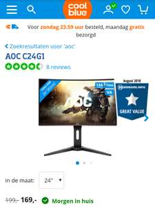 AOC C24G1 Curved Monitor 144Hz