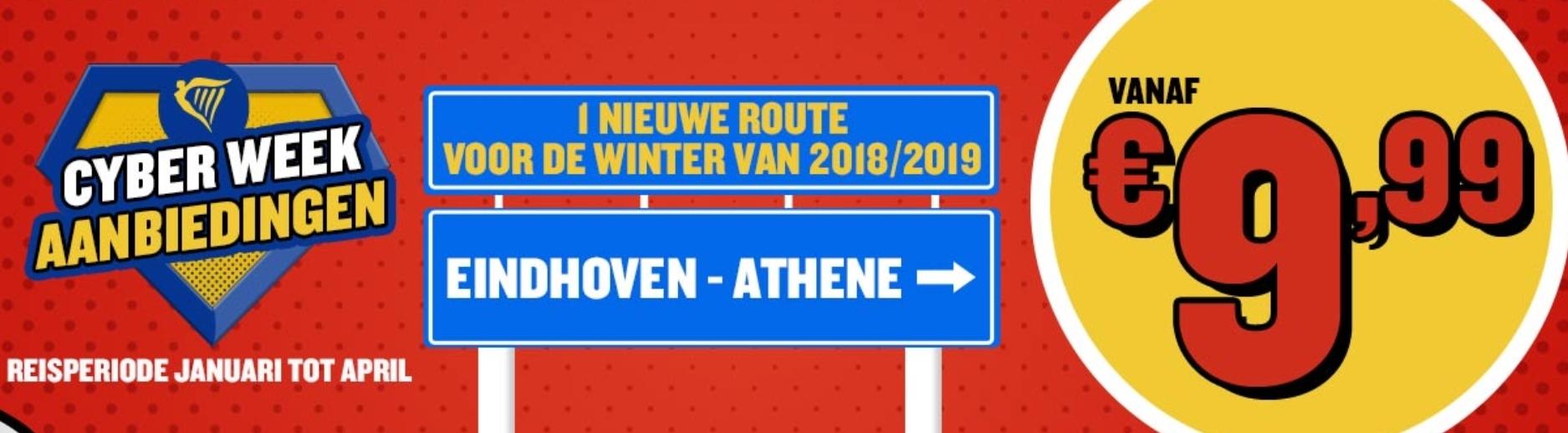 Cyber Week deals dag 7: Eindhoven > Athene voor €9,78 (nieuwe winterroute)