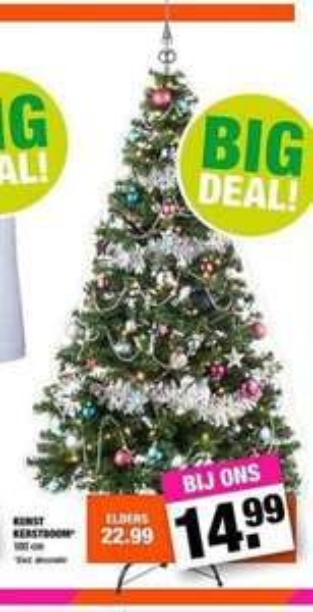 Kunstkerstboom 180cm €14,99 bij Bigbazaar!