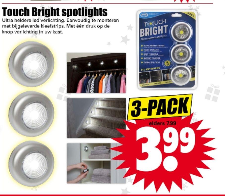 3 spotlights voor 3,99