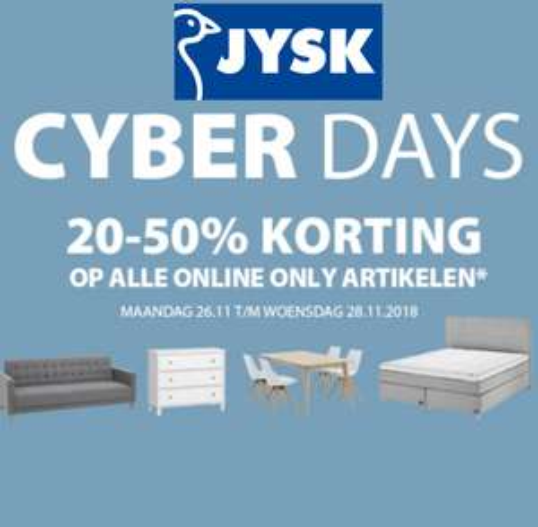 JYSK Cyber Monday tot 50% korting