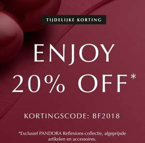 [Cyber Monday] [Black Friday] 20% korting* @ Pandora