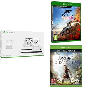 Xbox One S 1TB dual controller + Forza Horizon 4 + Assassins Creed Odyssey