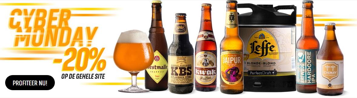 20% korting op alles bij Hopt, ook op To-good-to-go Pack (12 bier voor 10,50)