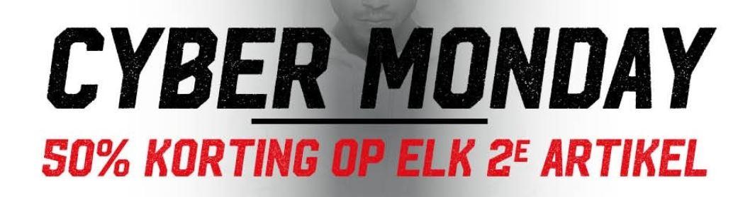 Cyber Monday: 50% korting op het 2e artikel @ Aktiesport