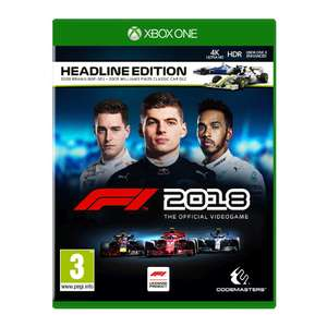 F1 2018 Headline Edition (Xbox One) voor €24,99 (PS4 - €26,99) @ Intertoys