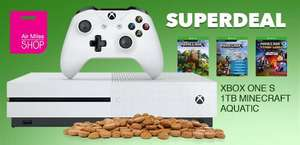 Xbox One S Minecraft Bundel 1TB voor 20.000 Air Miles + €99,99 @ Air Miles Shop