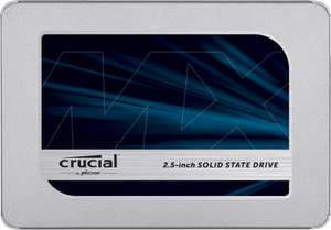 crucial MX500 Interne SSD, harde schijf, 6,4 cm / 2,5 inch, 3D NAND, SATA, zilver 1 TB
