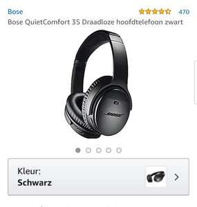 Bose QuietComfort 35 II zwart @ amazon.de
