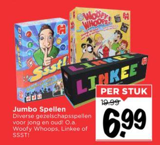 Diverse J*mbo gezelschapsspellen €6,99 @ Vomar