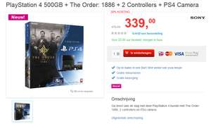 PlayStation 4 500GB + The Order: 1886 + 2 Controllers + PS4 Camera voor €339 @ Bart Smit