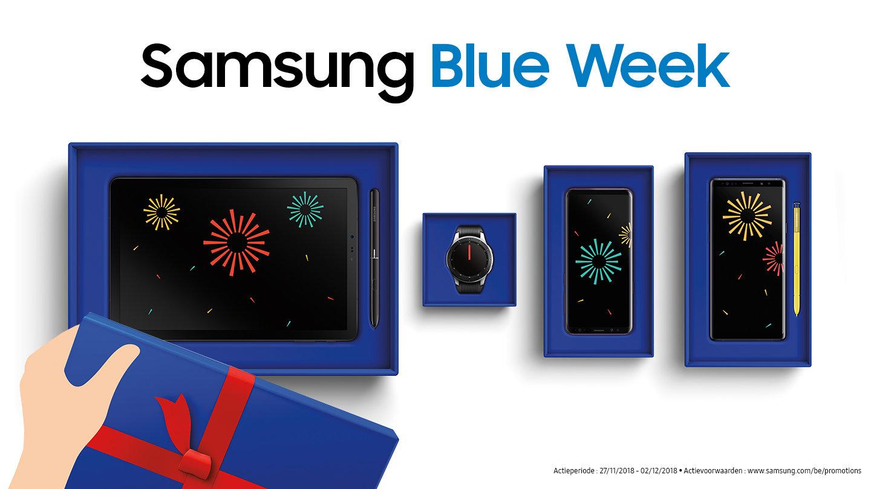 Samsung Blue Week in Benelux (BTW-terugbetaald!