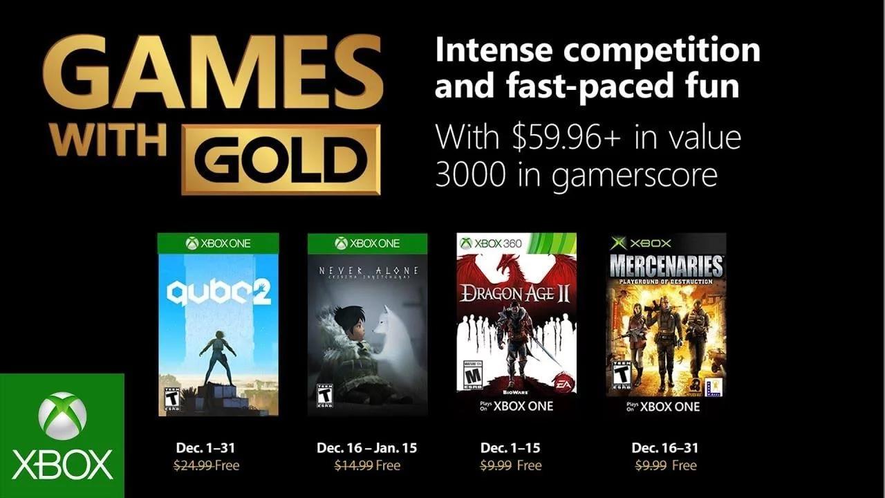 Games with Gold voor Xbox - December 2018