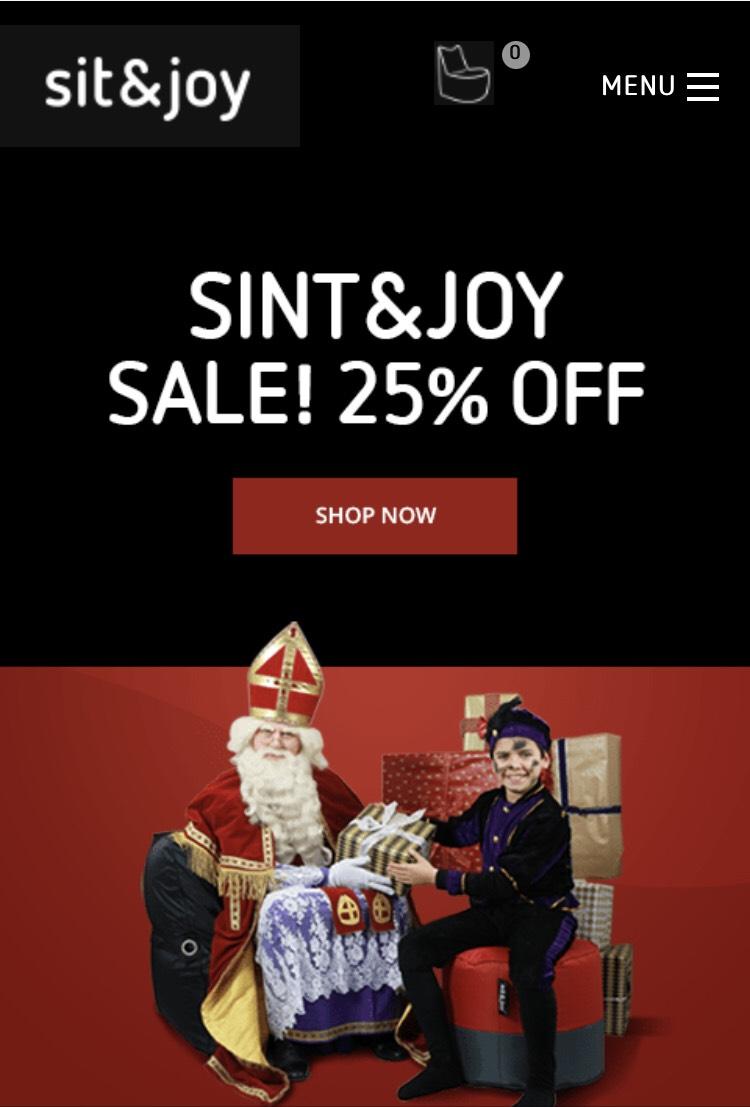 Sit&Joy zitzakken 25% korting