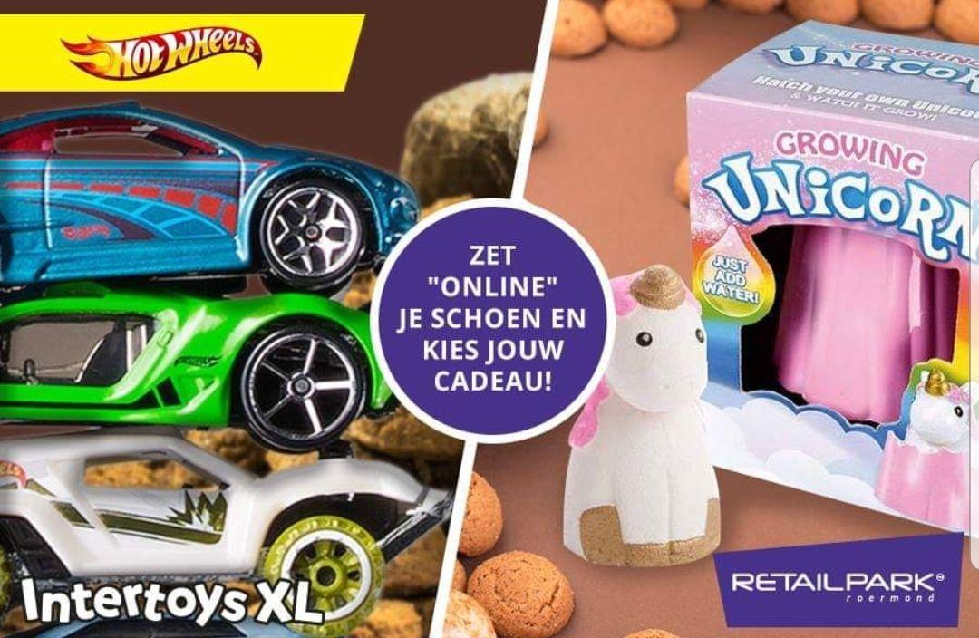 Online je schoentje zetten bij Intertoys XL Retailpark Roermond en zelf je cadeautje ophalen