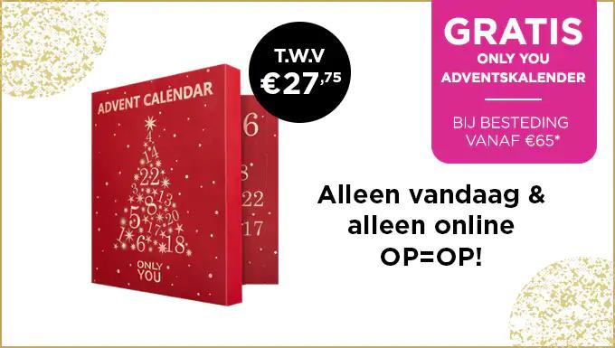 Gratis adventskalender (t.w.v. €22,20) bij besteding va €65 @ ICI Paris XL