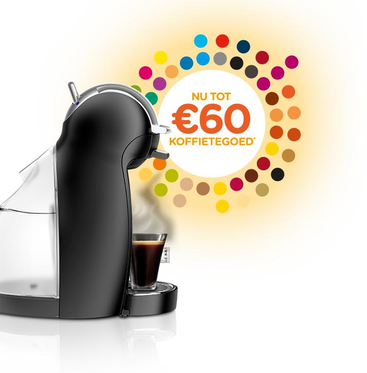 Tot 60 euro koffietegoed bij aankoop van een Dolce Gusto koffiemachine