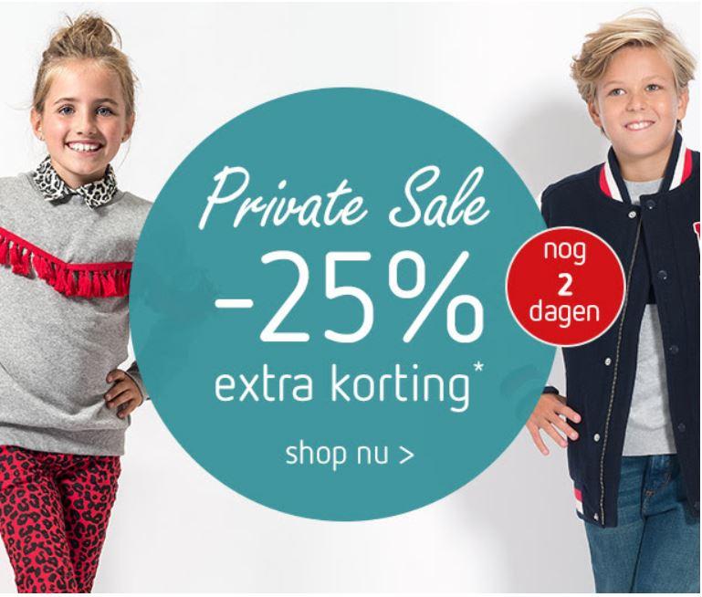 Met code 25% korting - ook op sale @ Kleertjes.com