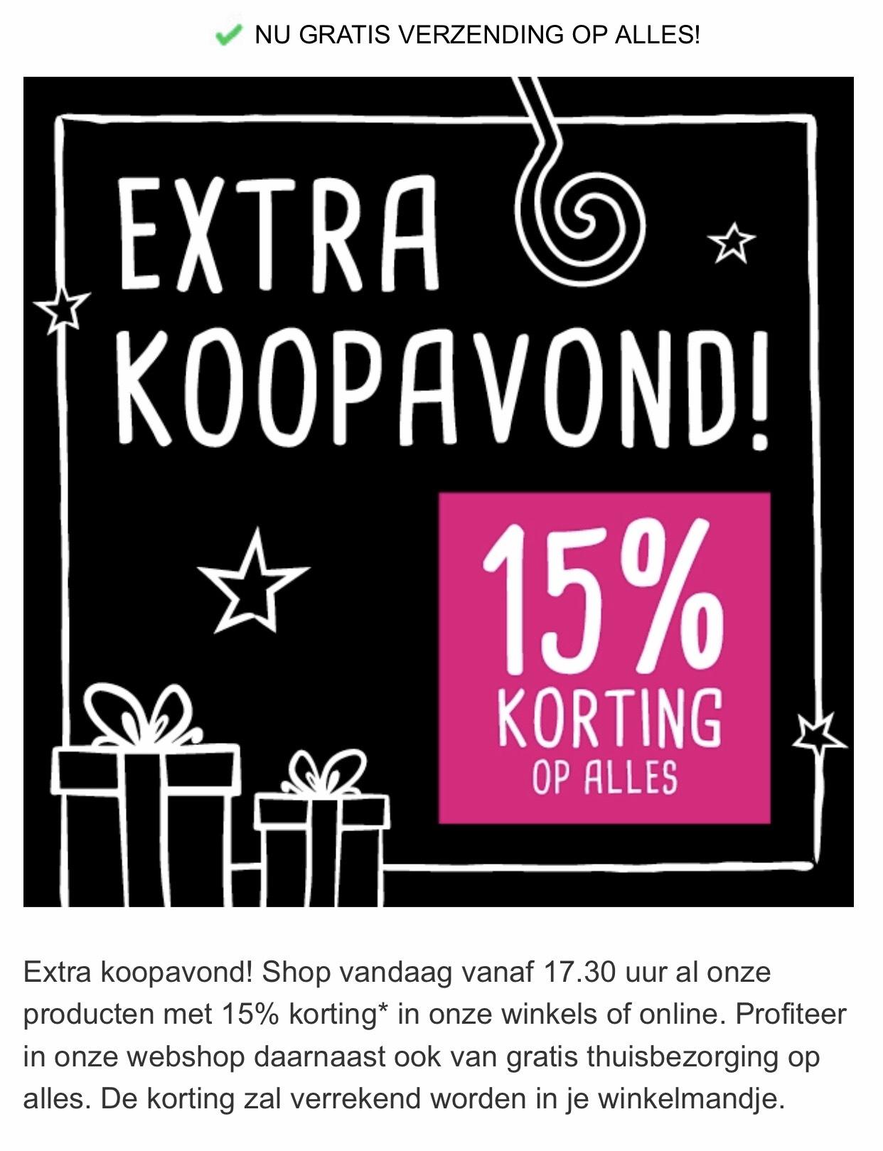 Extra koopavond 15% korting op bijna alles @xenos