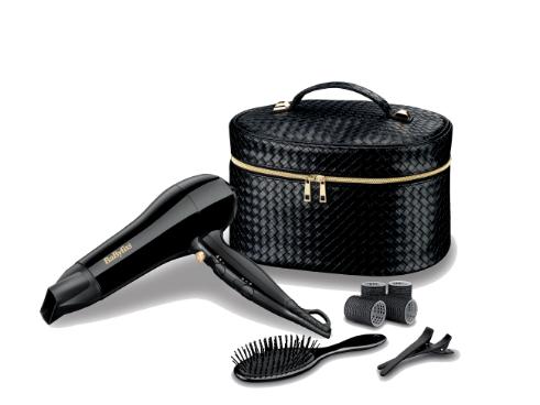 BaByliss Beautycase met föhn. borstel, rollers en haarclips