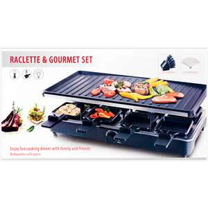 8 pers gourmet raclette set action