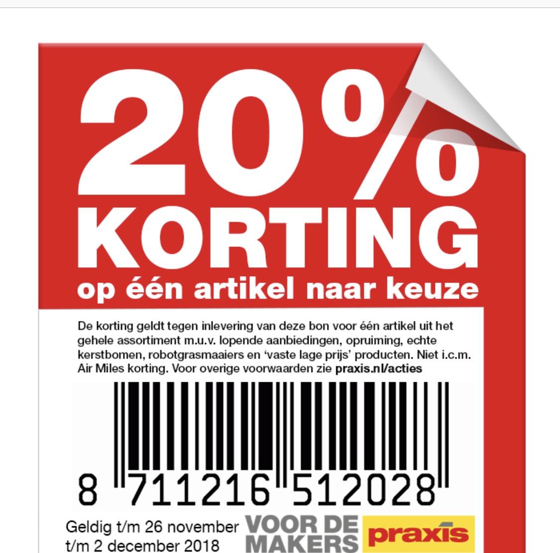 PRAXIS 20% korting