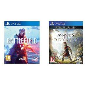 Battlefield V + Assassins Creed Odyssey Limited Edition (PS4 & Xbox One) voor €70,98 @ Amazon.co.uk