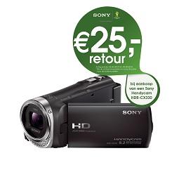 Tot €100 retour bij aankoop van een Sony-camera
