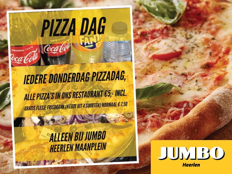 [Lokaal] Iedere donderdag pizzadag bij Jumbo Heerlen Maanplein