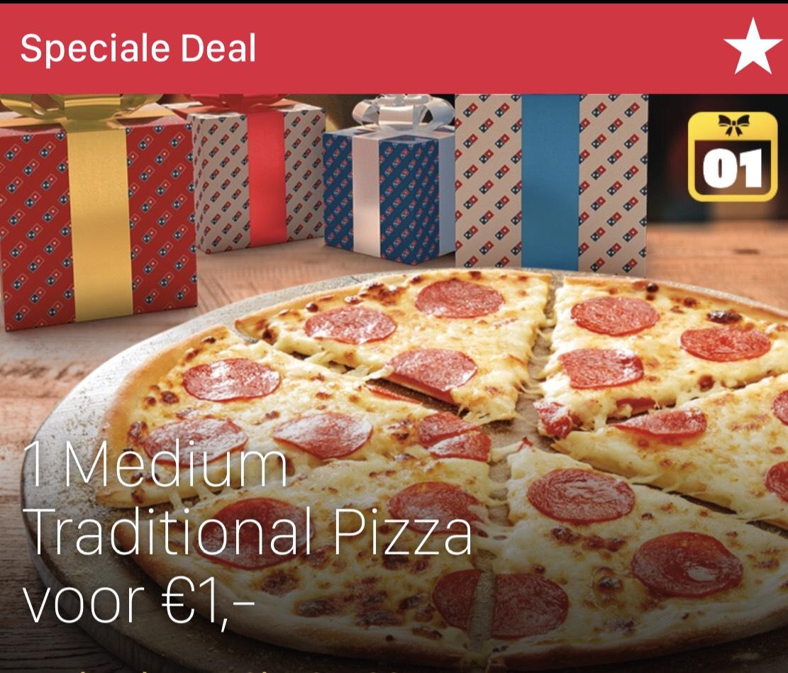 Traditional Pizza voor €1 tot 17u bij afhalen