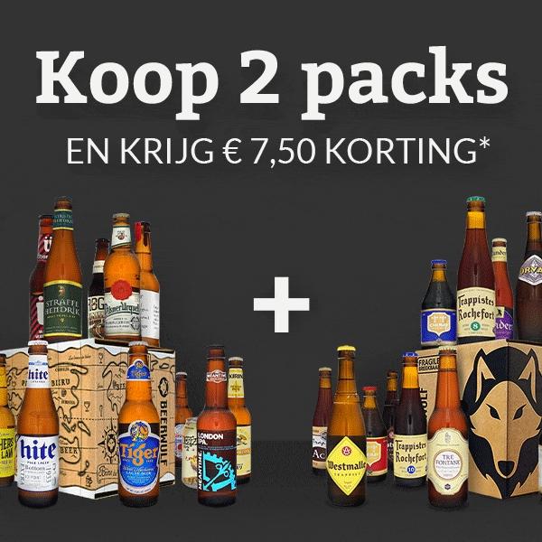 7,50€ korting bij bestelling van 2 packs @ Beerwulf