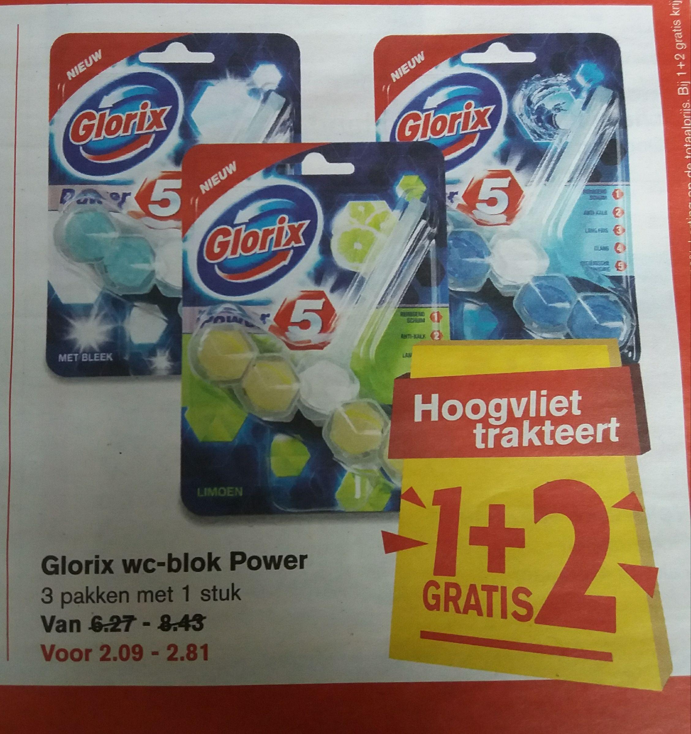 Glorix wc-blok Power 1+2 gratis @Hoogvliet
