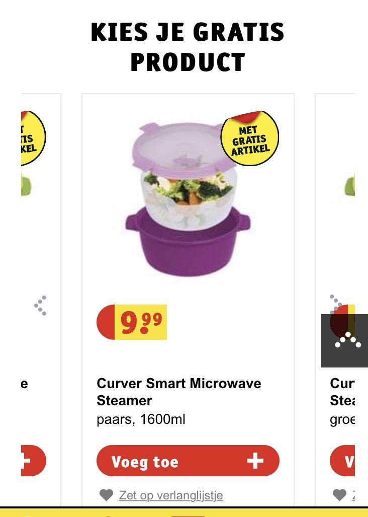 Gratis Curver steamer bij aankoop van 1 of 2 actieproducten @Kruidvat