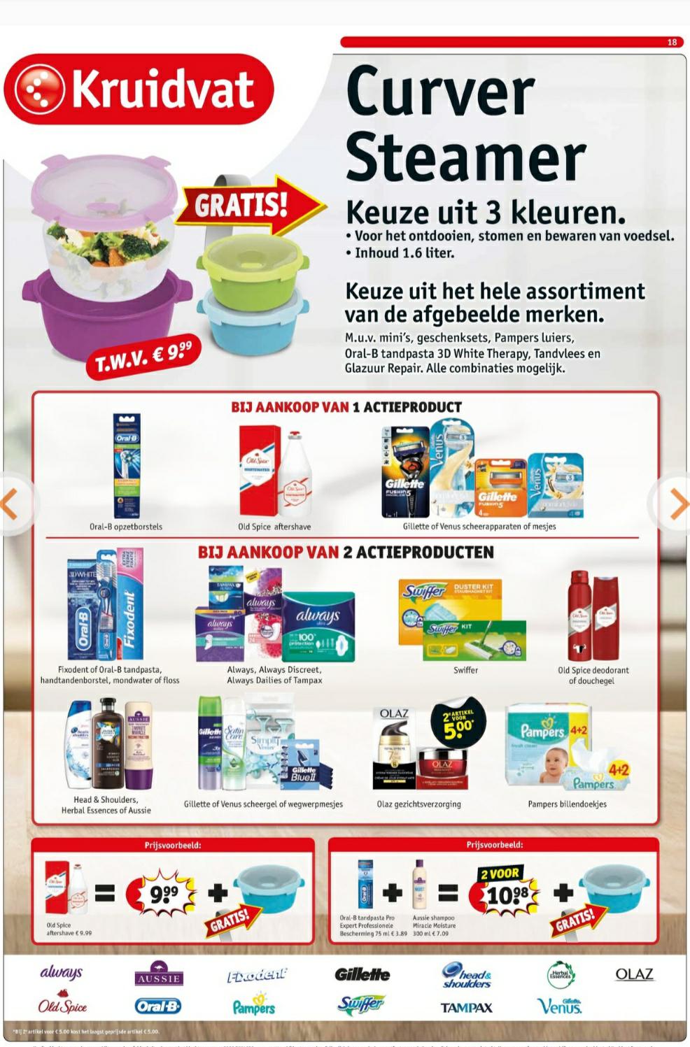 Curver Steamer t.w.v. € 9.99 gratis bij 1 of 2 actieproducten @ Kruidvat.