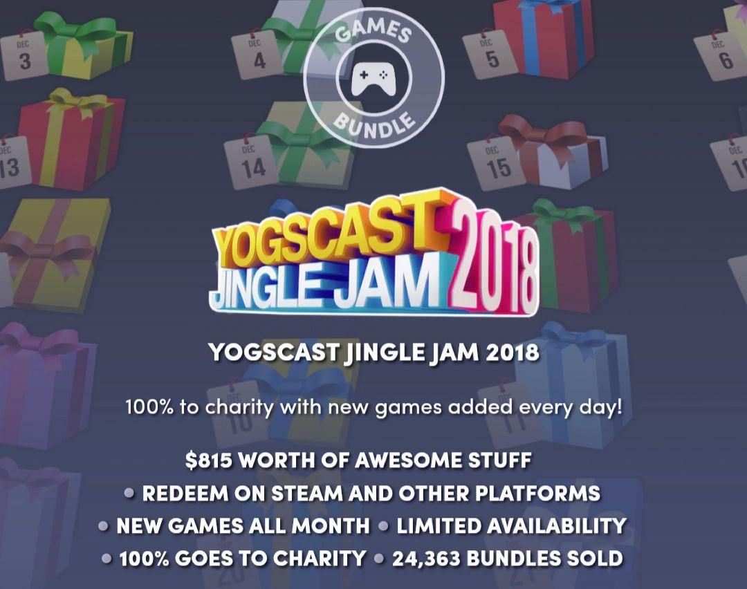 Humble bundle's Yogscast jingle jam 2018 adventskalender bundle